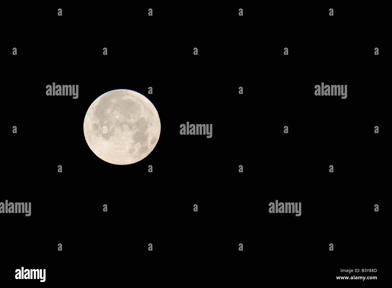 Full Moon over the Olympic Mountains Olympic National Park Washington - Stock Image