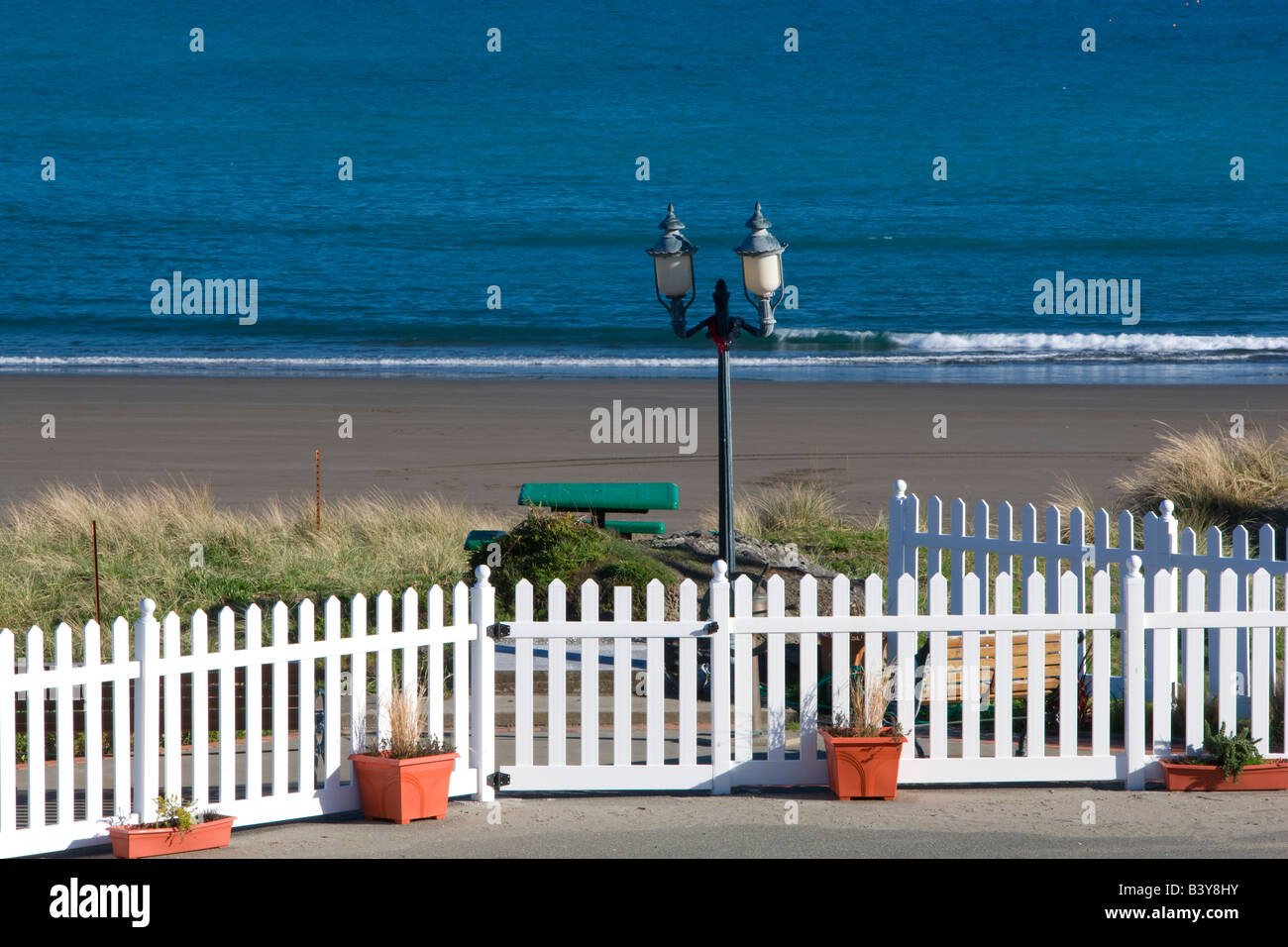 Small memorial at Port Orford in memory of those who died at sea - Stock Image