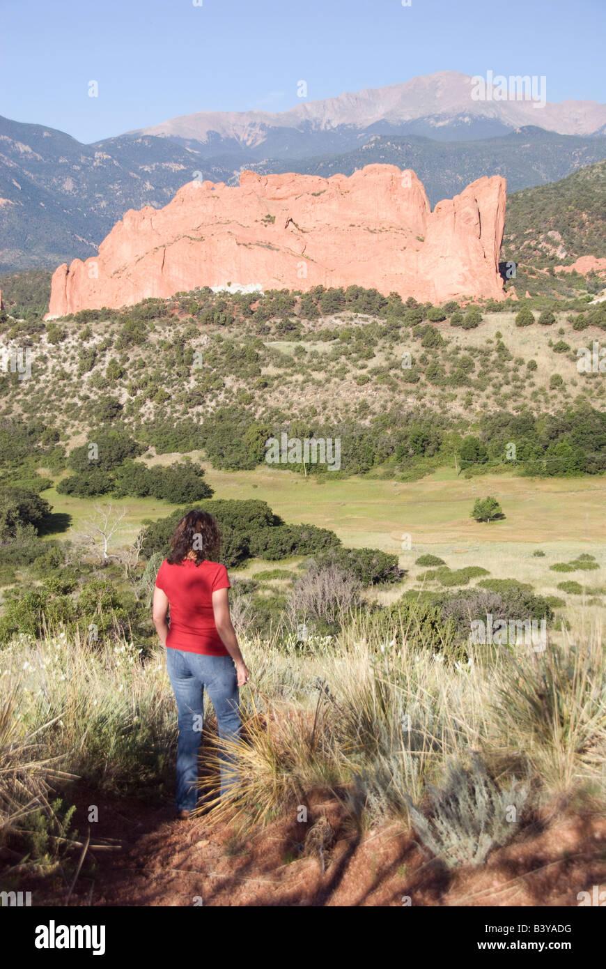 USA, Colorado, Colorado Springs, Garden of the Gods. - Stock Image