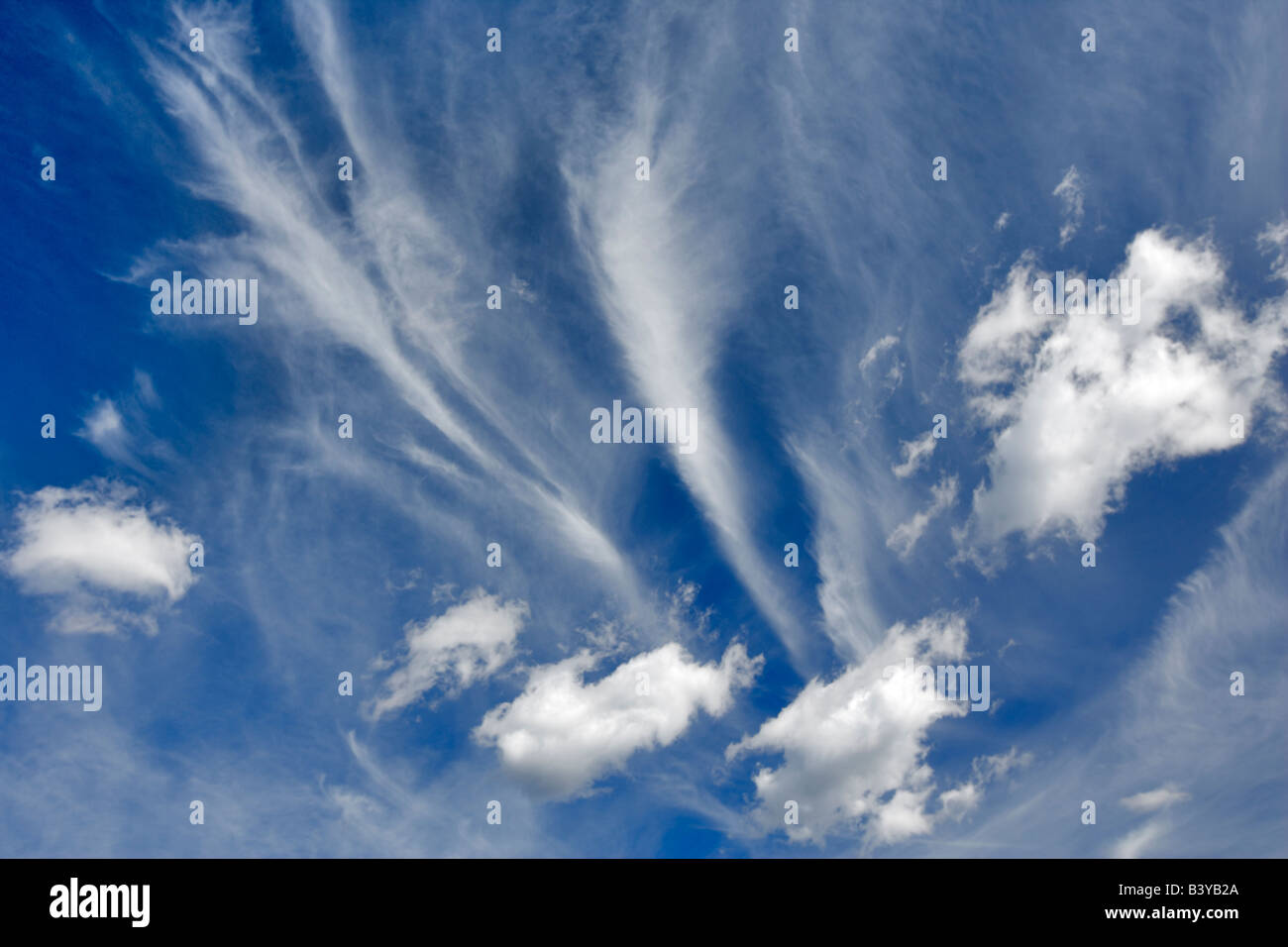 Couds over Grand teton National Park WY - Stock Image