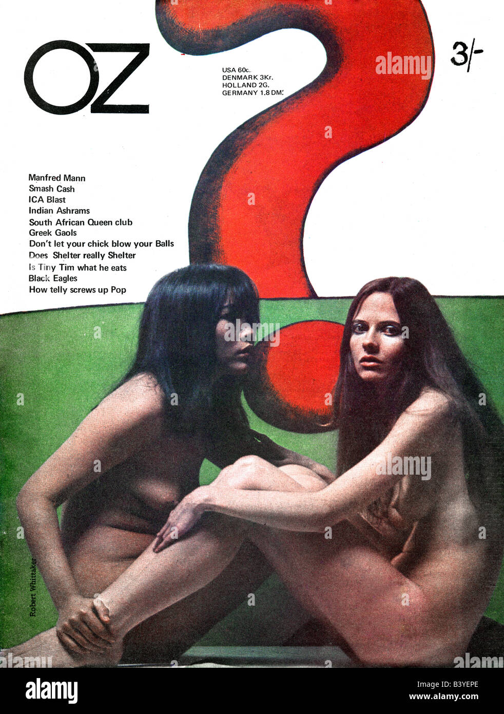 UK Oz Magazine Issue Number 17 Front Cover January 1969 . FOR EDITORIAL USE ONLY - Stock Image