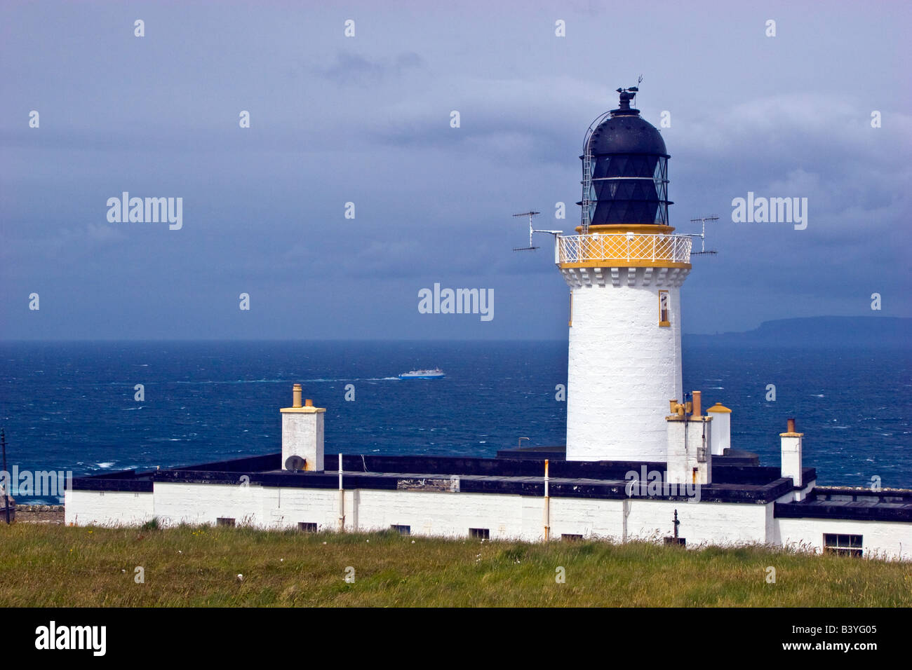 Dunnet Head Lighthouse Sutherland Scotland Great Britain UK 2008 British mainlands most northerly point - Stock Image