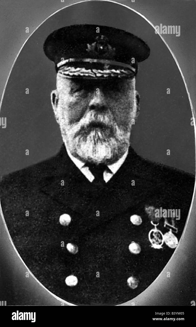 transport / transportation, navigation, Titanic, portrait of Captain Edward J. Smith, historic, historical, maritime - Stock Image