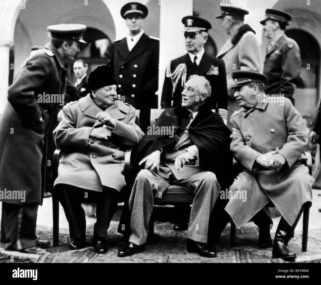 events, Second World War / WWII, conferences, Yalta Conference, 4.2.1945 - 11.2.1945, interpreter Vladimir Pavlov, Stock Photo
