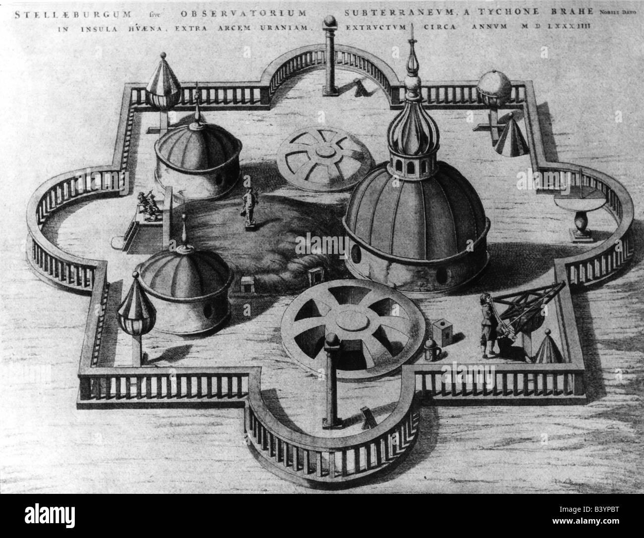 Brahe, Tycho, 14.12.1546 - 24.10.1601, Danish astronomer, observatory Sternburg island Hveen 1584, , Additional - Stock Image