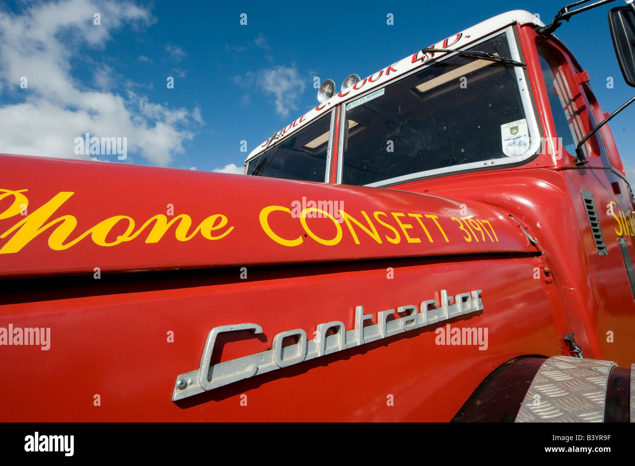 red siddle c cook ltd scammell truck - Stock Image