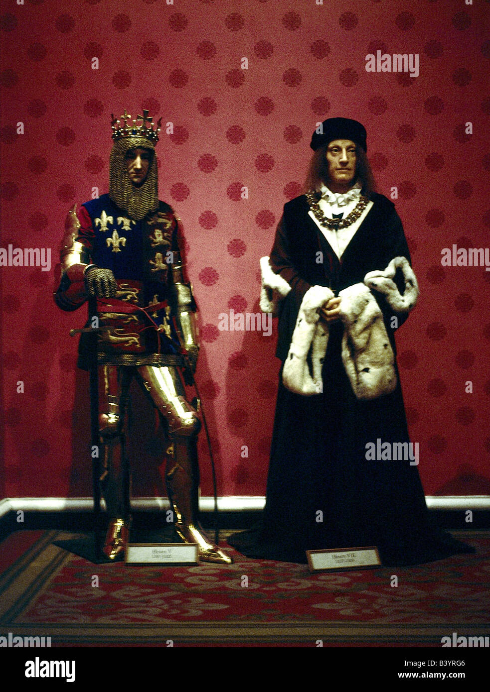 geography / travel, Great Britain / United Kingdom, England, London, Madame Tussauds, waxworks, King Henry V. and - Stock Image