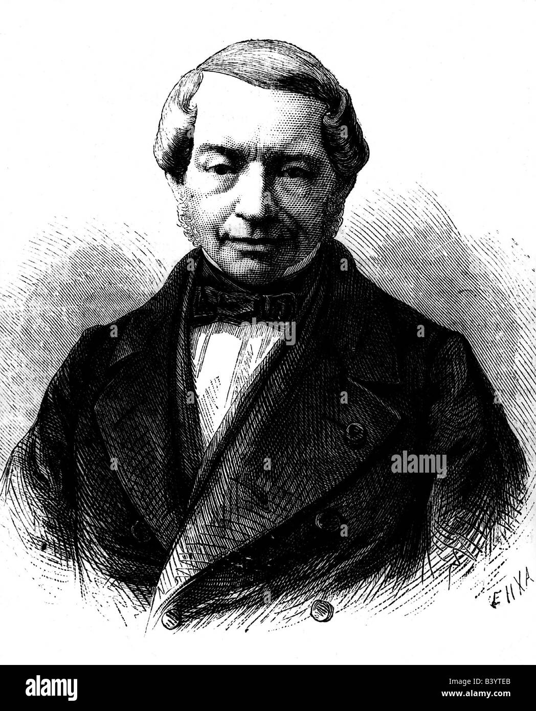 Rothschild, Jakob, 15.5.1792 - 15.11.1868, German banker, engraving after drawing by Kriehuber, 19th century, James - Stock Image