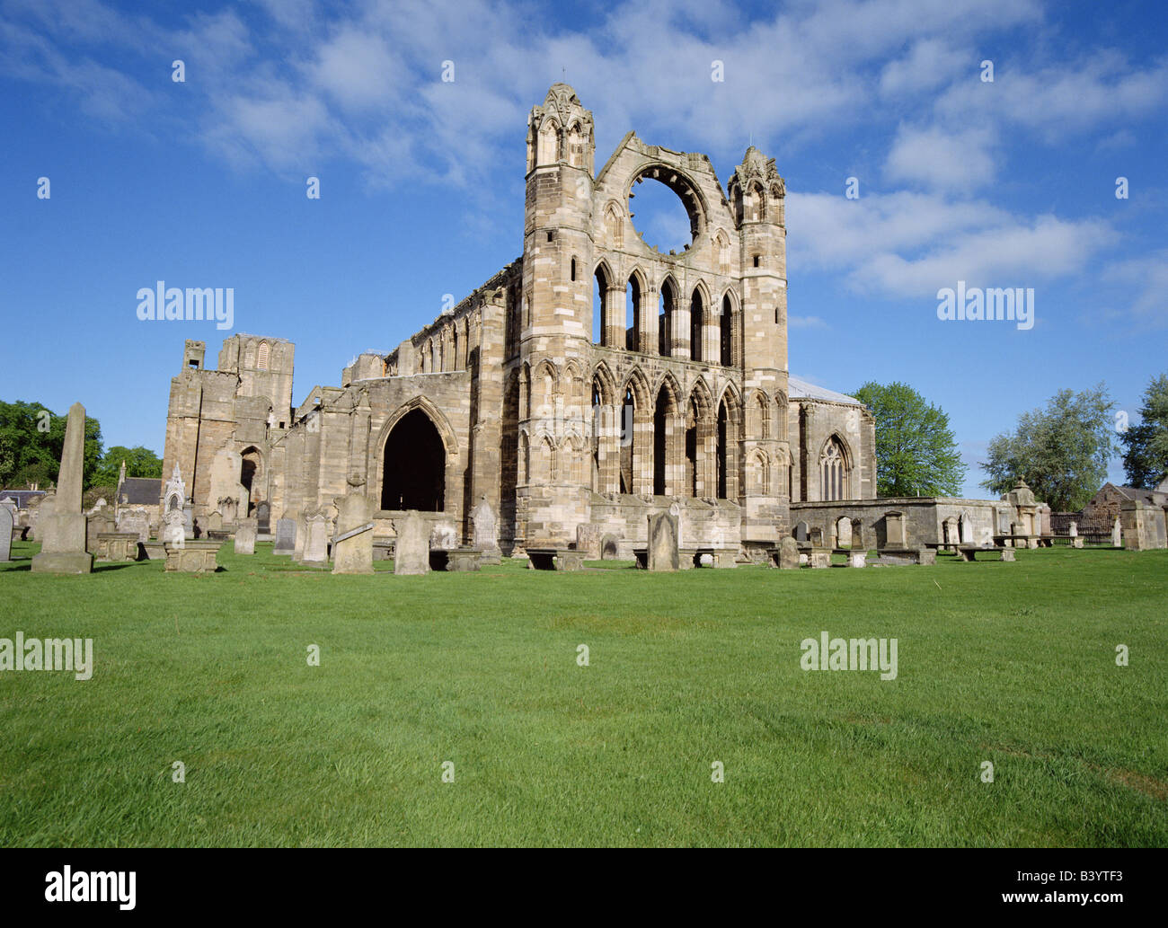 dh Elgin cathedral ELGIN MORAY East wall scotland ruined monastery uk Stock Photo