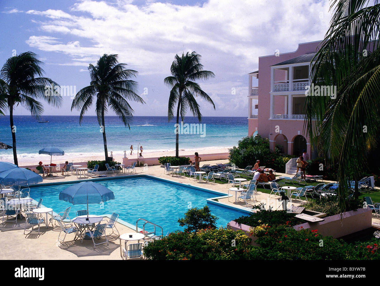 geography / travel, Barbados, gastronomy, Hotel, South Palm Beach club, Hotel area, Lesser Antilles, holiday, holidays, - Stock Image