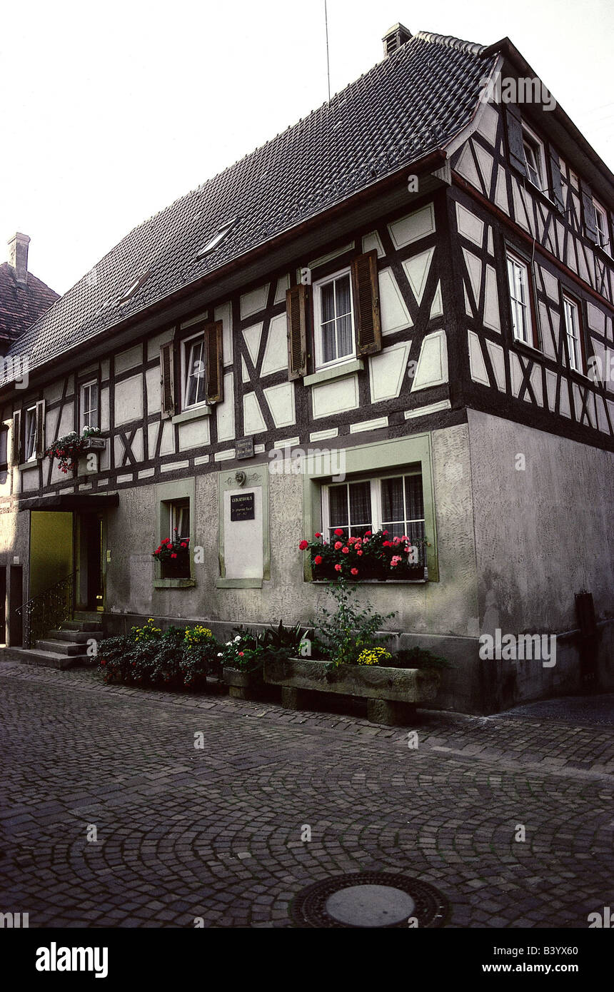 geography / travel, Germany, Baden-Wurttemberg, Knittlingen, Faust house, , Additional-Rights-Clearances-NA - Stock Image