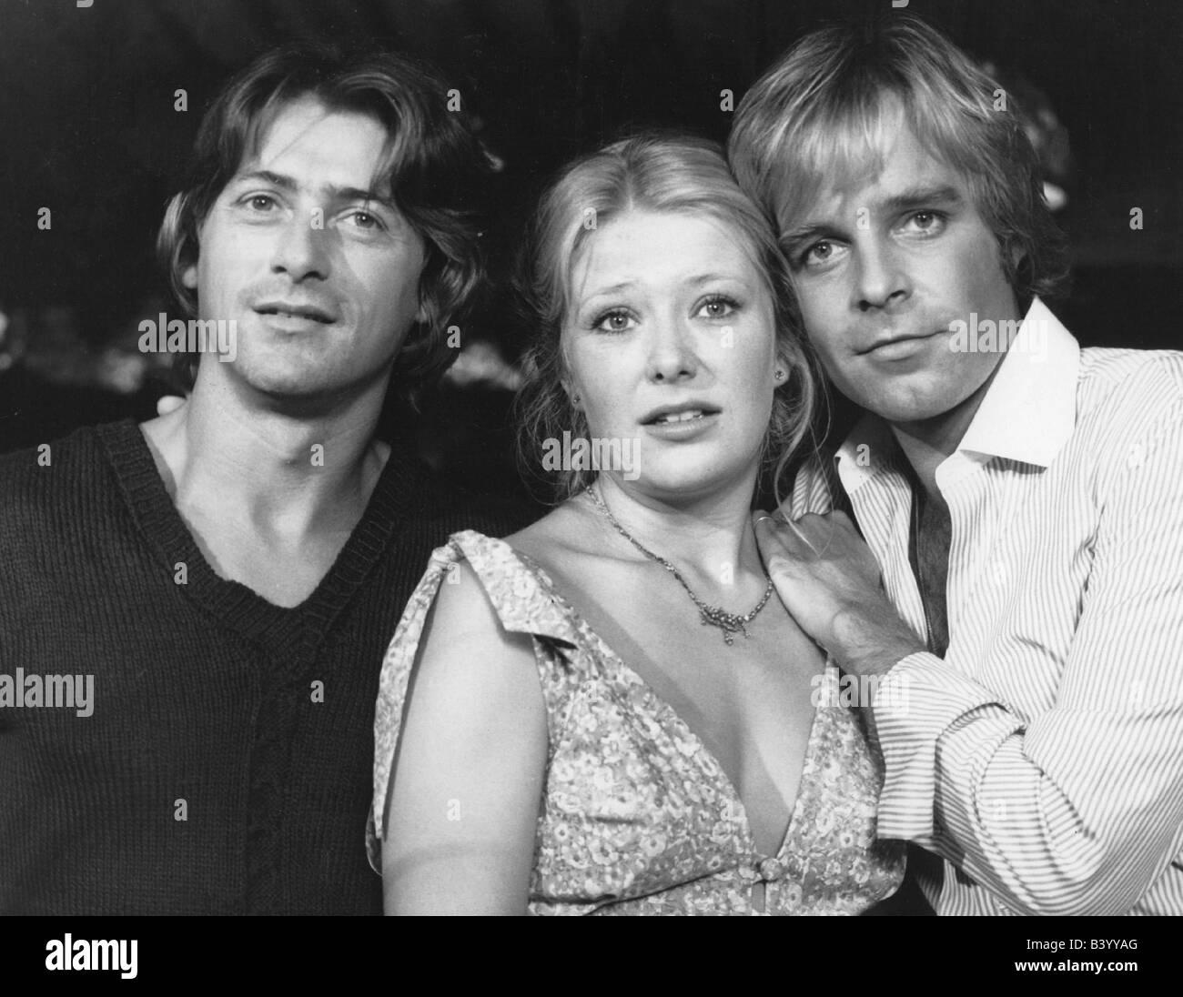 Fritsch, Thomas, * 16.1.1944, German actor, TV series 'Drei sind einer zuviel', with Jutta Speidel and Herbert - Stock Image