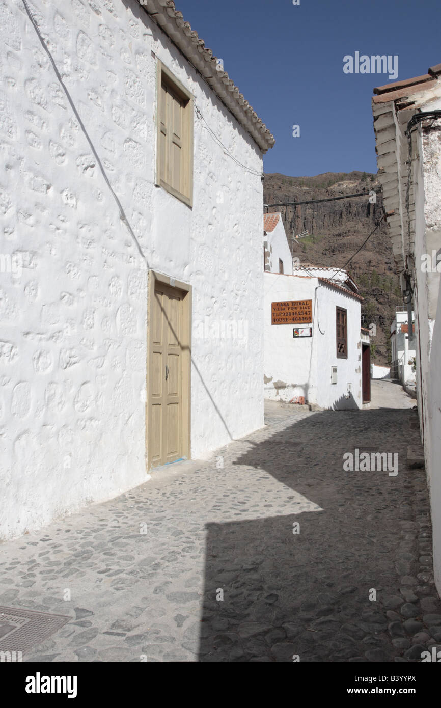 Alleyway In Fataga An Old Village Where The Streets Are Too Narrow