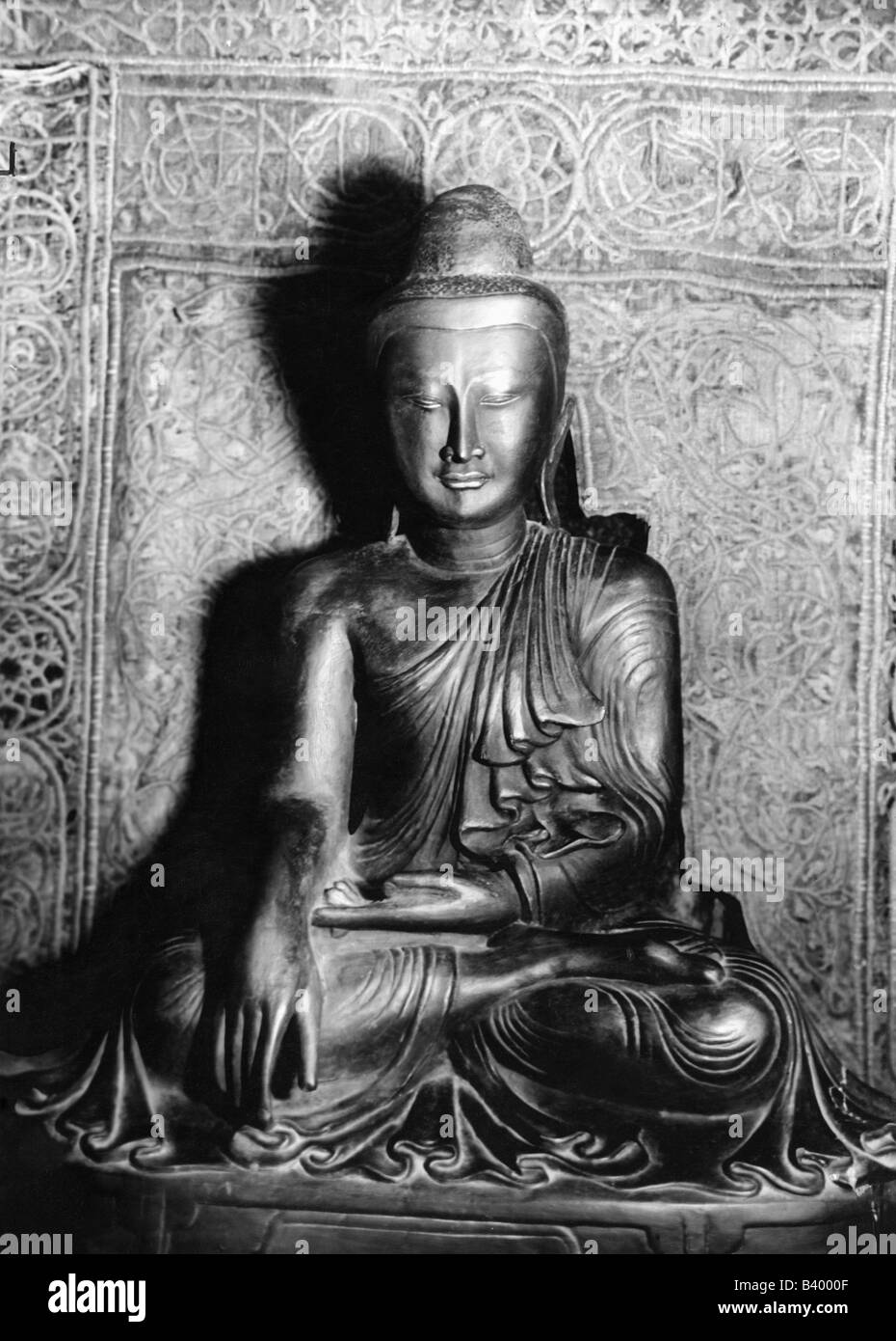 Buddha, Prince Siddharta Gautama, 563 BC - 483 AC, indian founder of a religion, Buddhism, Additional-Rights-Clearances - Stock Image