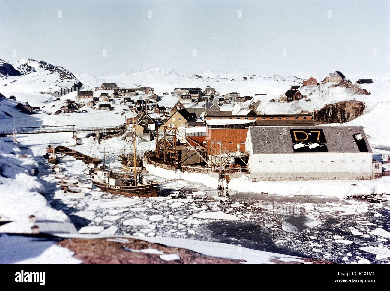 geography / travel, Greenland, West - Greenland, settlement, Sukkertoppen, , Additional-Rights-Clearances-NA - Stock Image