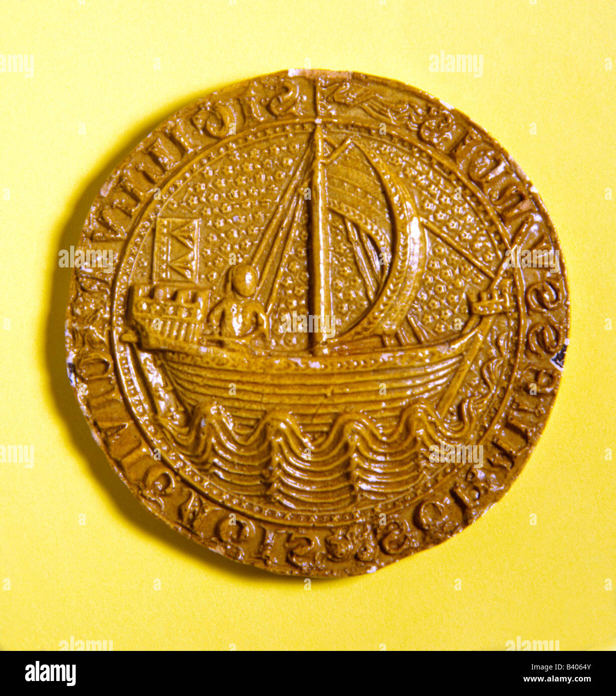 heraldry, signet, Germany, Hanseatic City Stralsund 1329, Additional-Rights-Clearances-NA - Stock Image