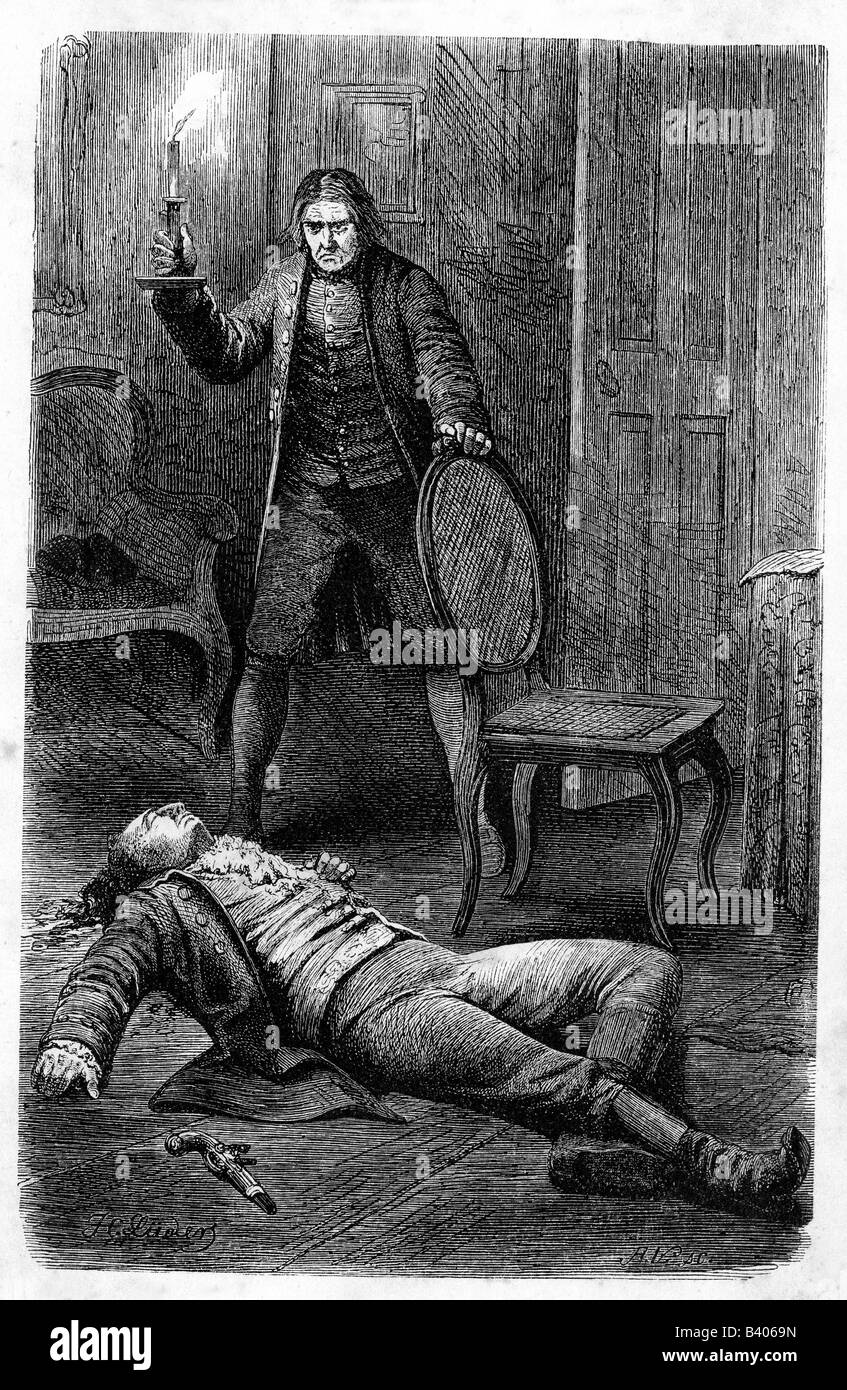 """Goethe, Johann Wolfgang, 28.8.1749 - 22.3.1832, German author/writer, works, """"The Sorrows of Young Werther"""", engraving Stock Photo"""