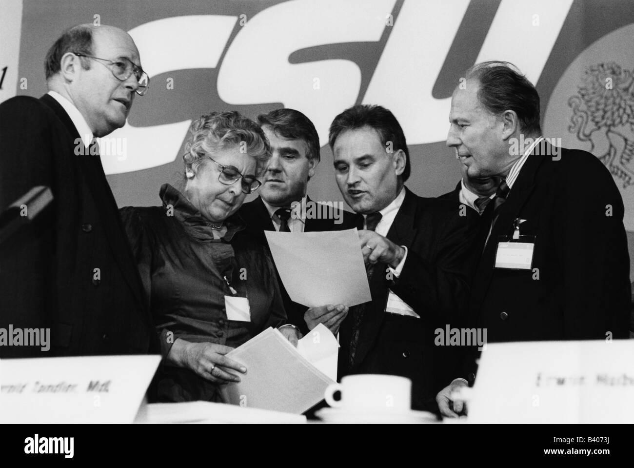 geography / travel, Germany, politics, parties, Christian Social Union (Christlich-Soziale Union, CSU), convention, - Stock Image