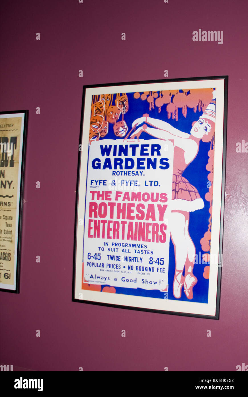 Old time music hall playbill poster - Stock Image