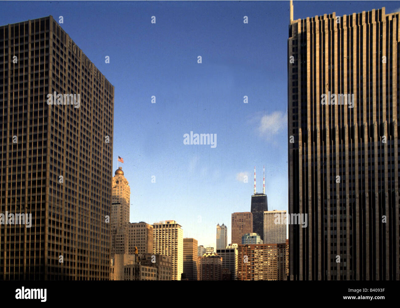 geography / travel, USA, Illinois, Chicago, downtown,  John Hancock centre / center, Additional-Rights-Clearances - Stock Image