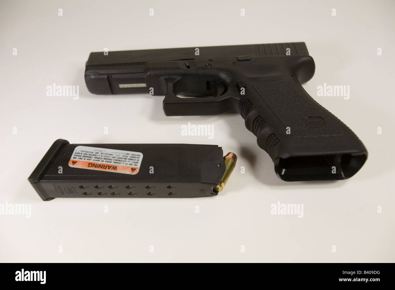 Glock Model 22 40 Caliber Pistol With The 15 Round Magazine Removed