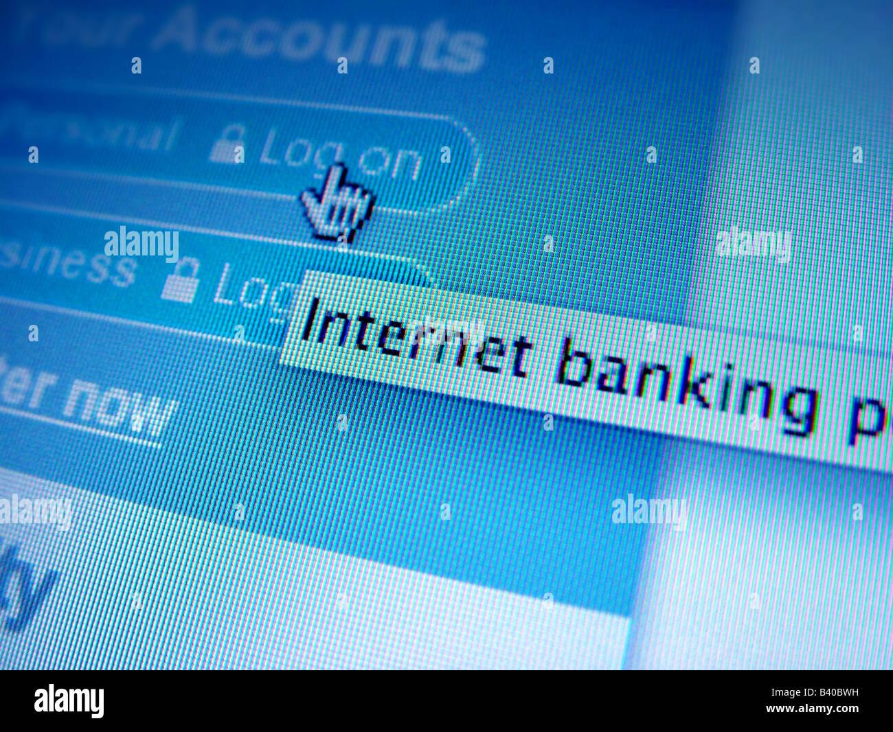 internet banking - Stock Image