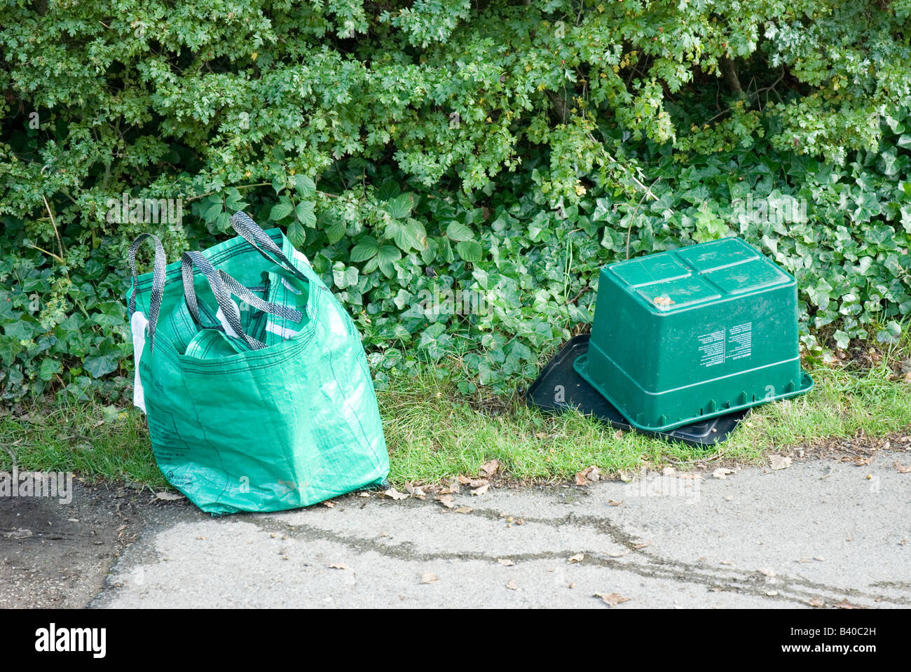 Recycle box and bag Stock Photo