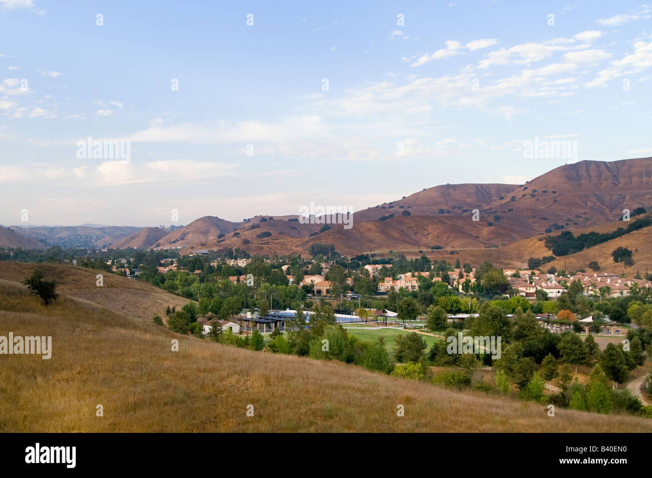 Calabasas a suburb located in Los Angeles country houses many parks and trails - Stock Image