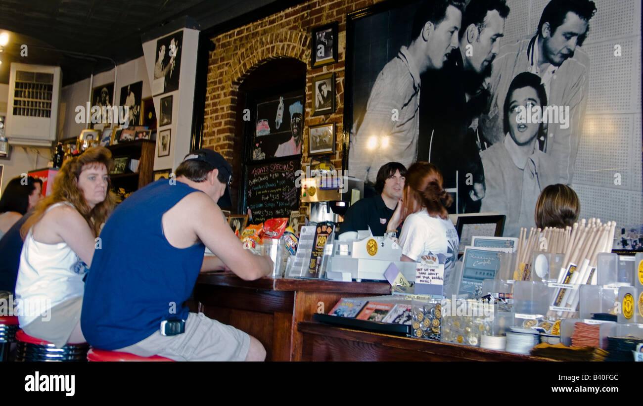 Sun Studio cafe Memphis Tennessee - Stock Image
