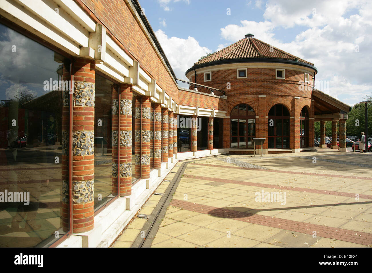 City of St Albans, England. The Verulamium Museum 'The Museum of Everyday Life in Roman Britain' at Verulamium - Stock Image