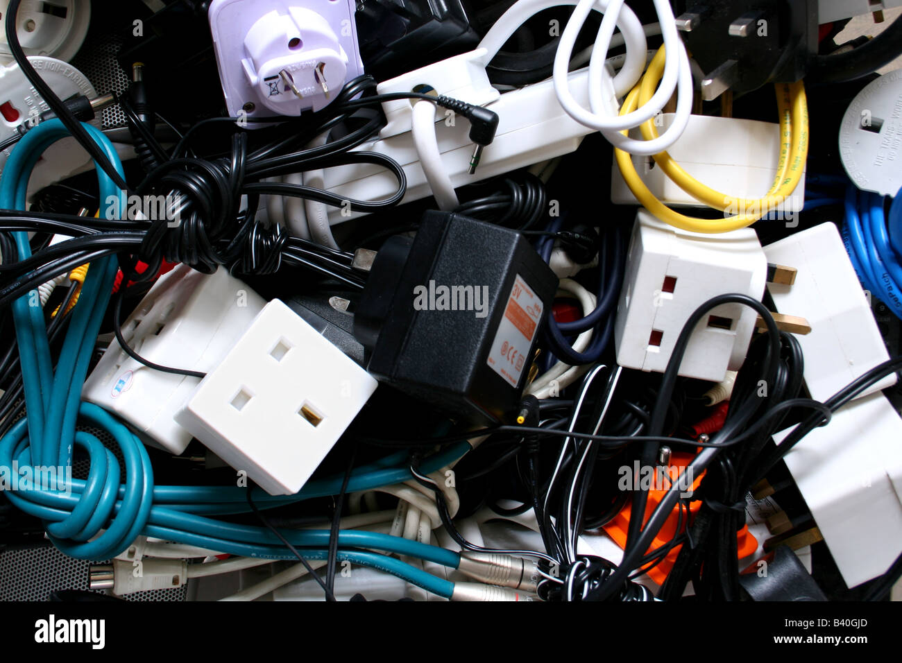 Plugs, wires and cables Stock Photo: 19682053 - Alamy