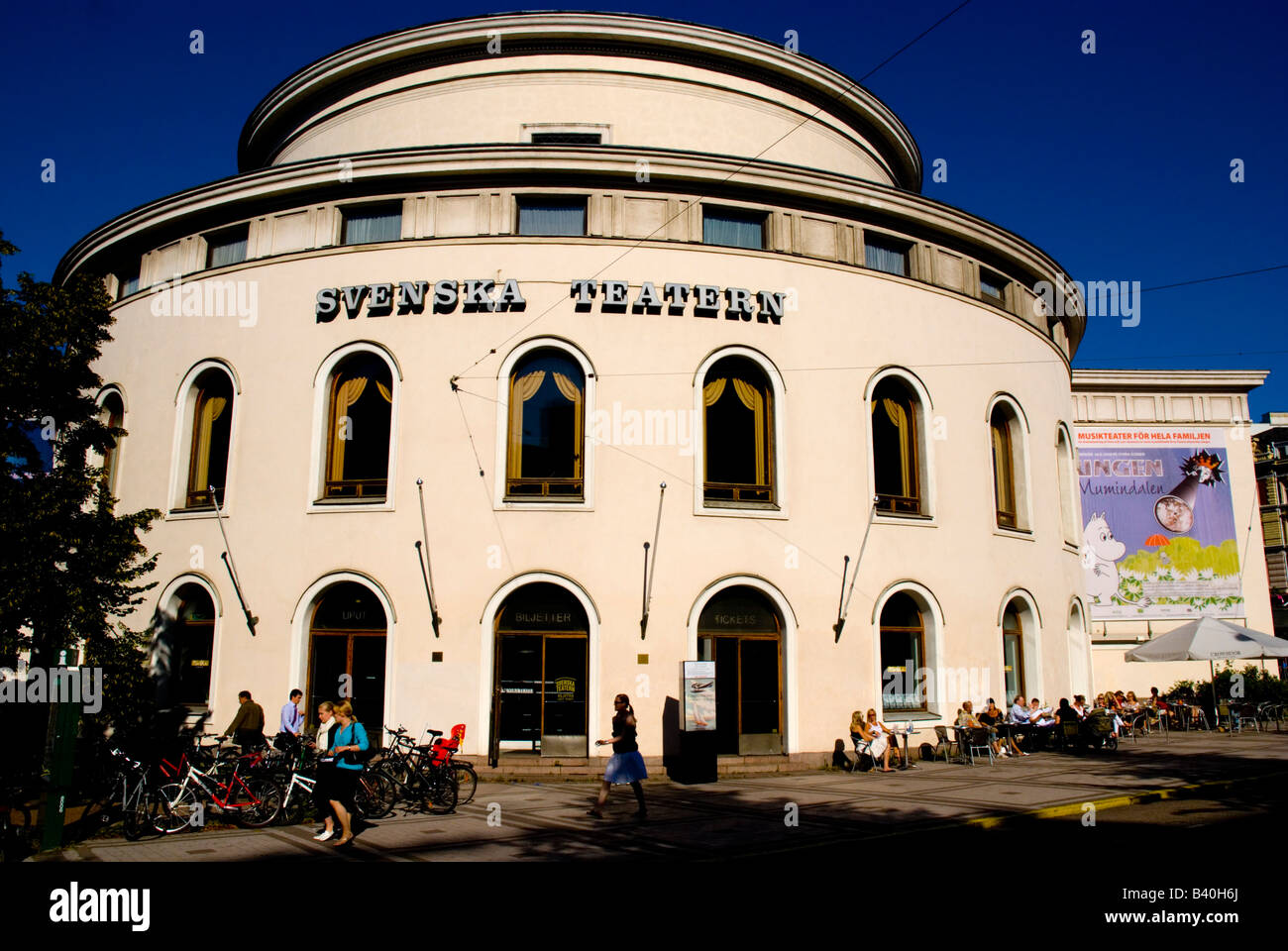 Svenska Teatern the Swedish language theatre in Helsinki Finland Europe - Stock Image