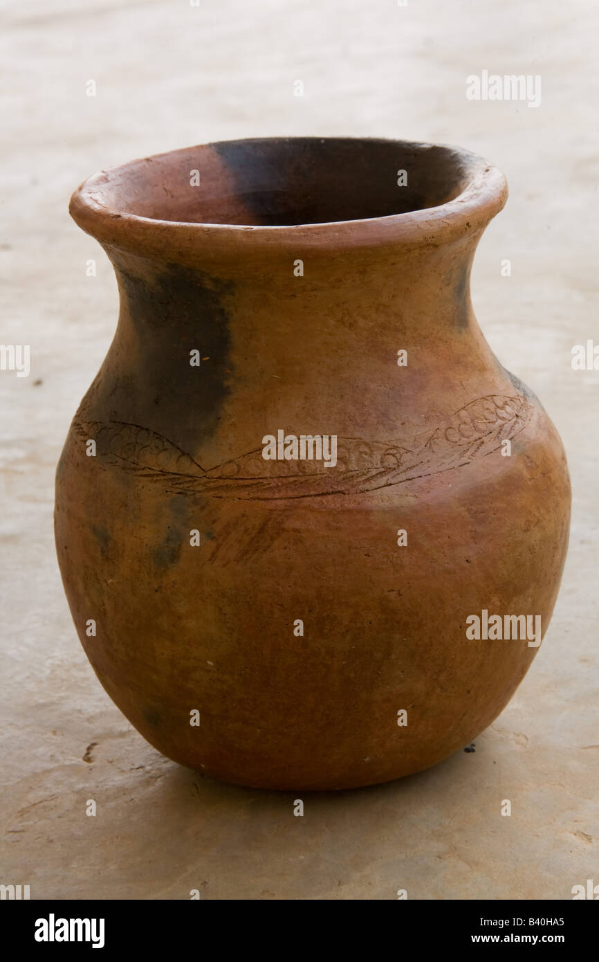 Terracotta water pot Zambia Africa - Stock Image