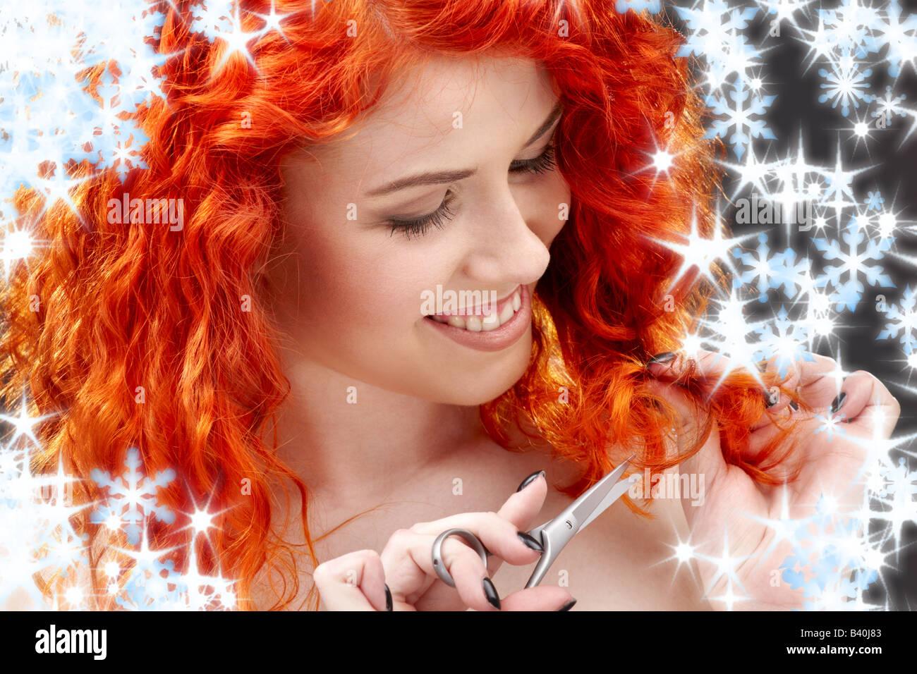 Redhead mature negligee
