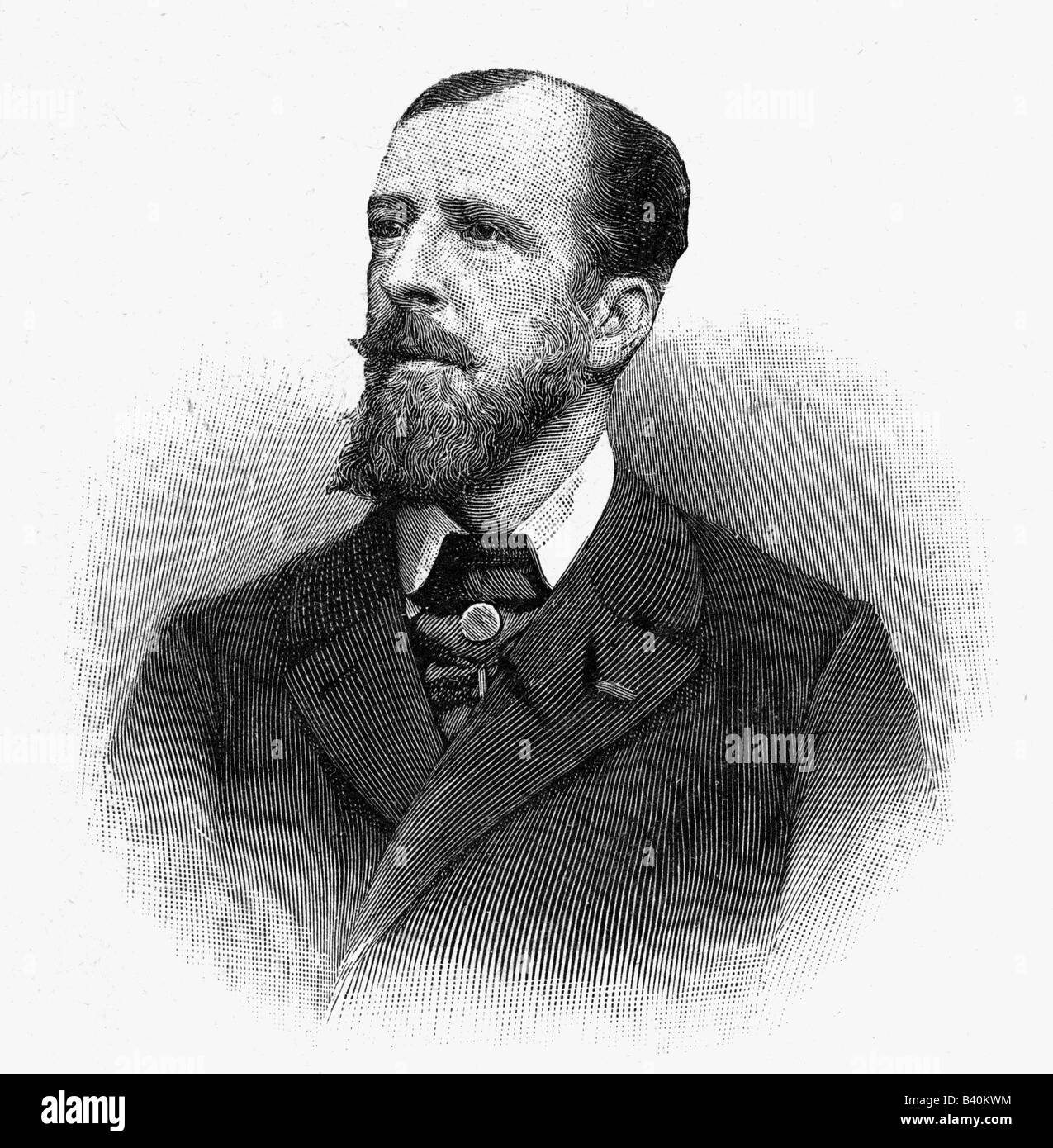 Deroulede, Paul, 2.9.1846 - 30.1.1914, French politician, poet, portrait, wood engraving, , Additional-Rights-Clearances - Stock Image