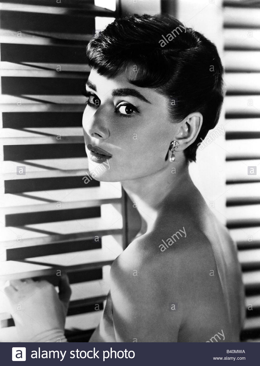 Hepburn, Audrey, 4.5.1929 - 20.1.1993, British actress, portrait, 1950s, Additional-Rights-Clearances-NA - Stock Image