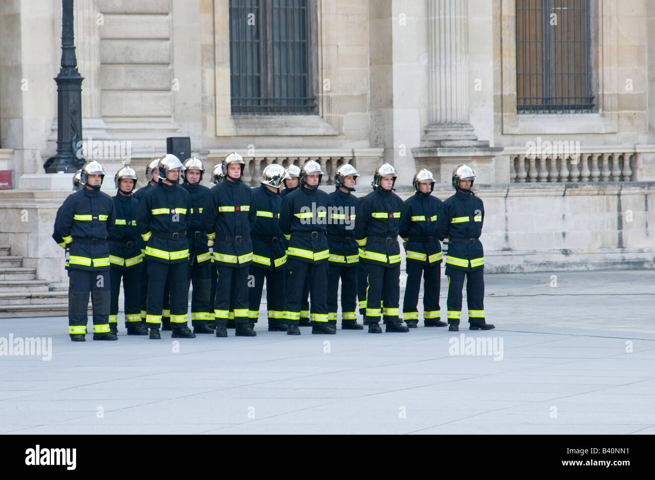 A french  fire crew array - Stock Image