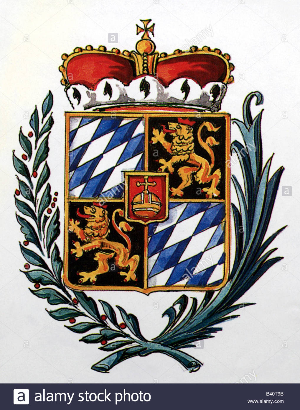 heraldry, coat of arms, Germany, electorate Bavaria-Palatinate, 1777 - 1805, Additional-Rights-Clearances-NA - Stock Image