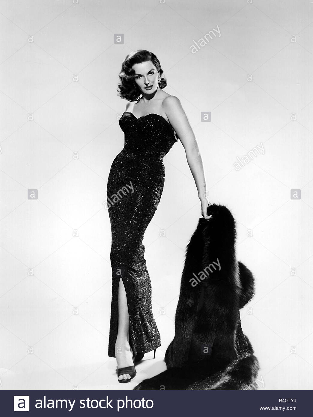 Russell, Jane, * 21.6.1921, American actress, full length, 1950s ...