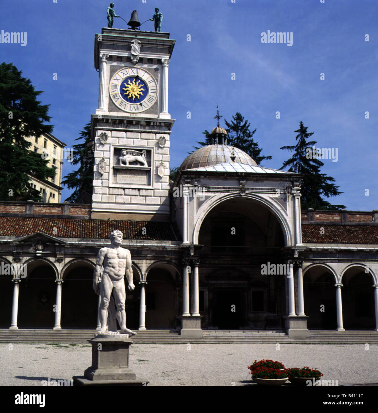 geography / travel, Italy, Udine, Loggia di San Giovanni and Torre dell`Orologio, built: 16th century, exterior - Stock Image