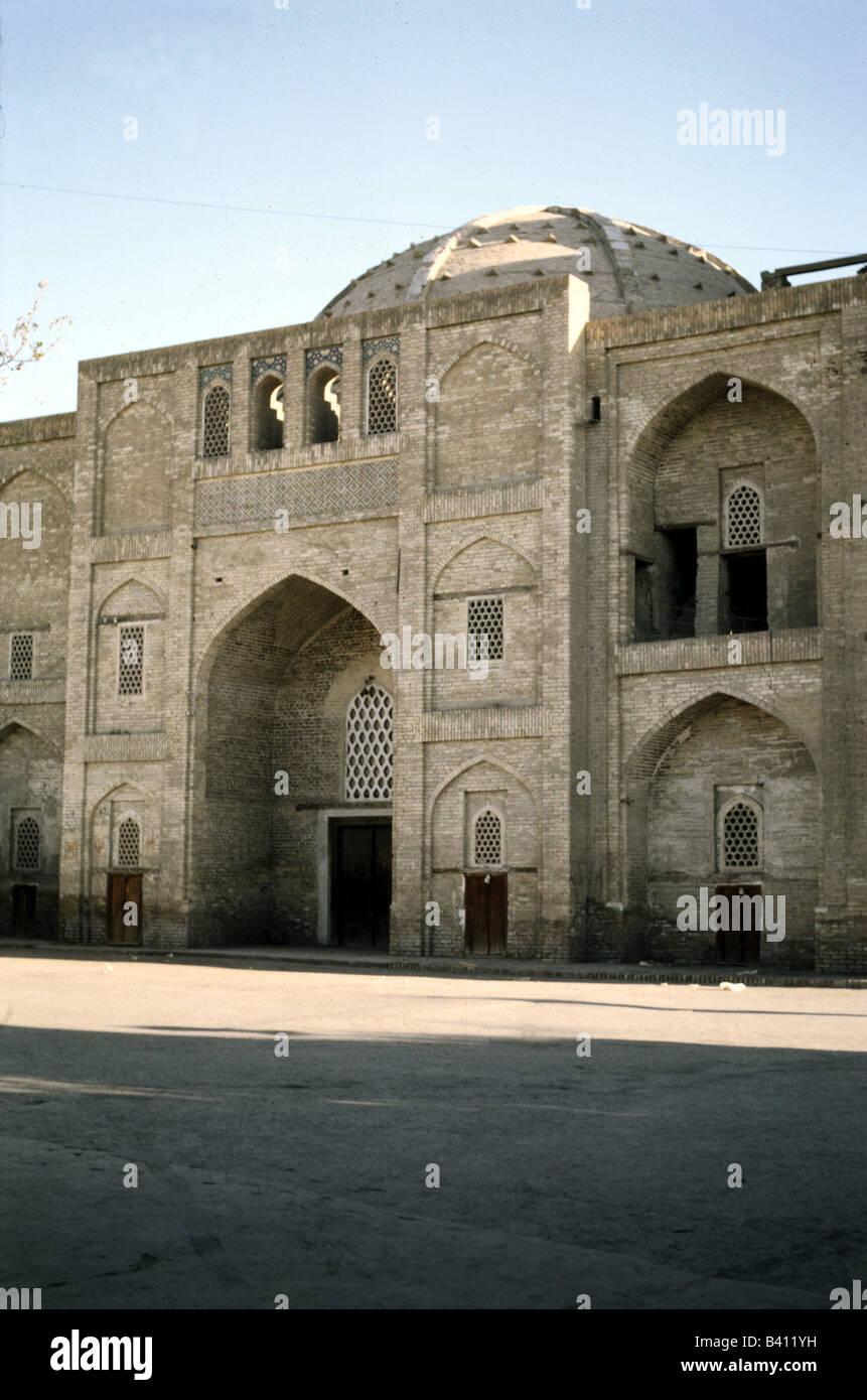 geography / travel, Uzbekistan, Boukhara, buildings, mosque of dervishes, dervish, UNESCO, World Heritage Site, - Stock Image