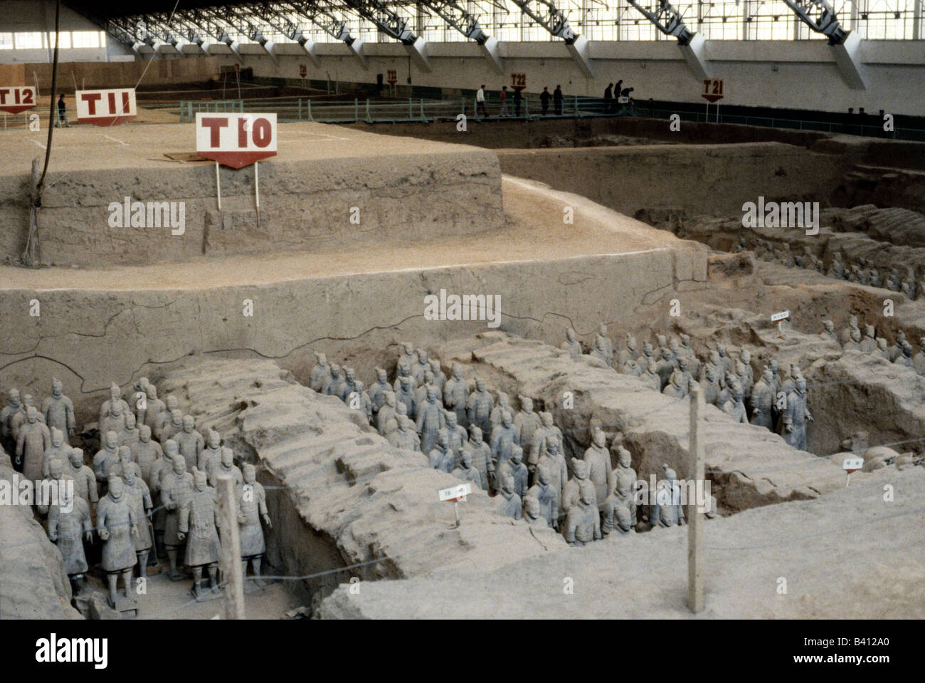 geography / travel, China, Xian, museum, stone army of emperor Qui Hunag Di (221 - 210 BC), terracotta figures, - Stock Image
