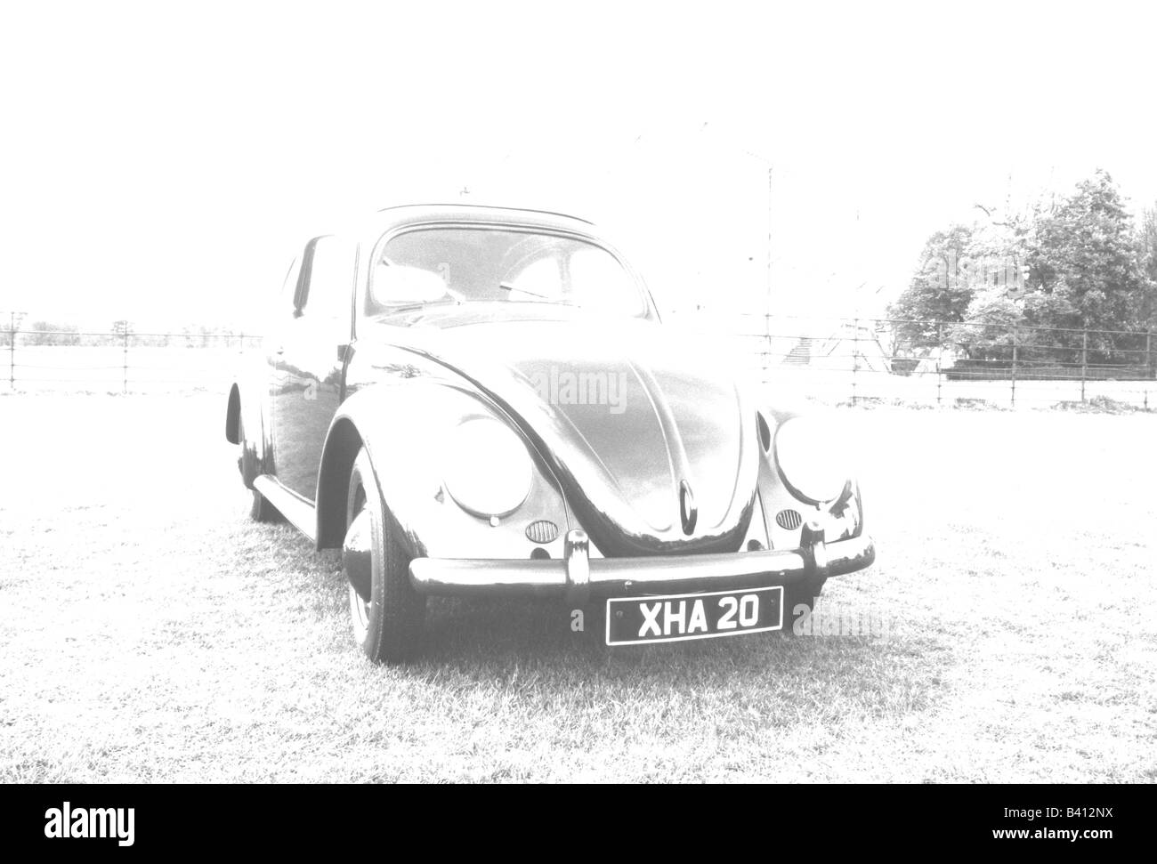Volkswagen Beetle of 1955. car auto classic art abstract - Stock Image