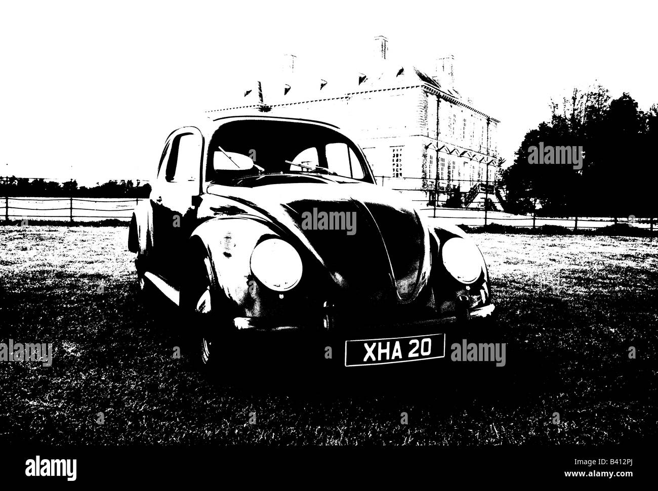 Volkswagen Beetle of 1955. car auto classic art abstract Stock Photo