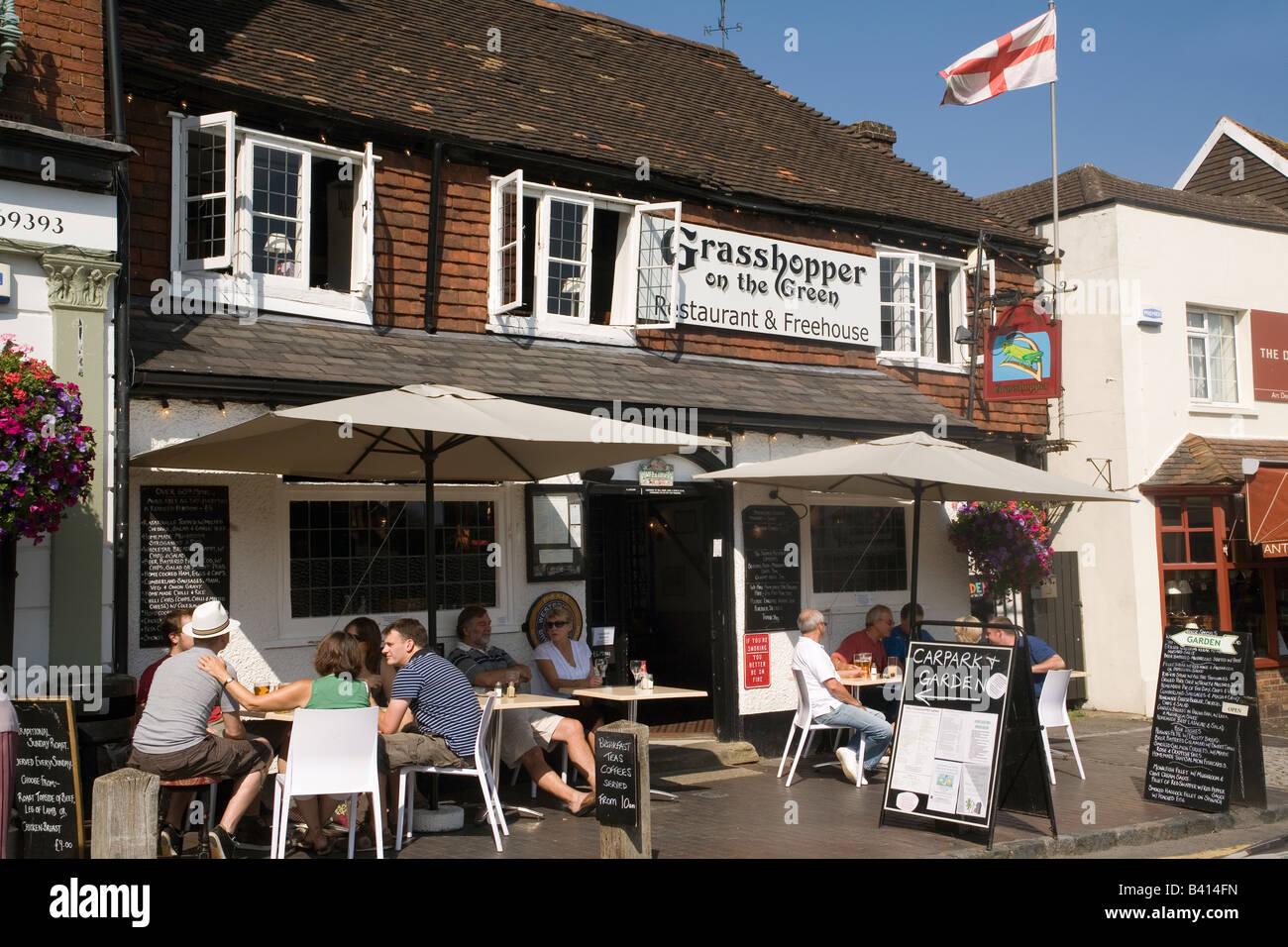 England Kent Westerham Grasshopper inn - Stock Image