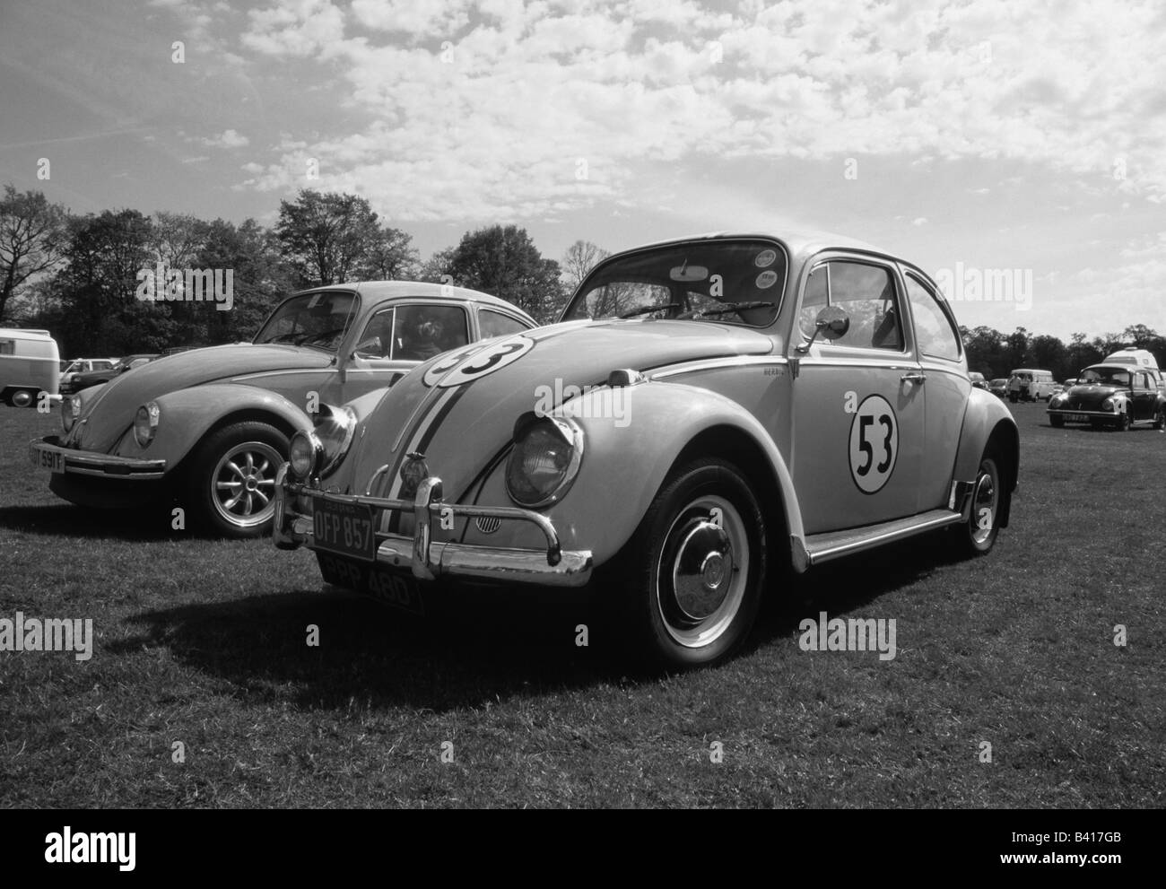 Volkswagen Beetle Herbie. car auto classic cool iconic - Stock Image