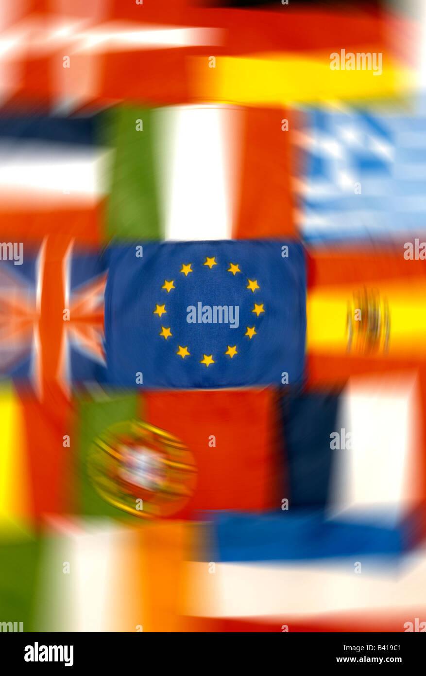 EU european union country flags - Stock Image