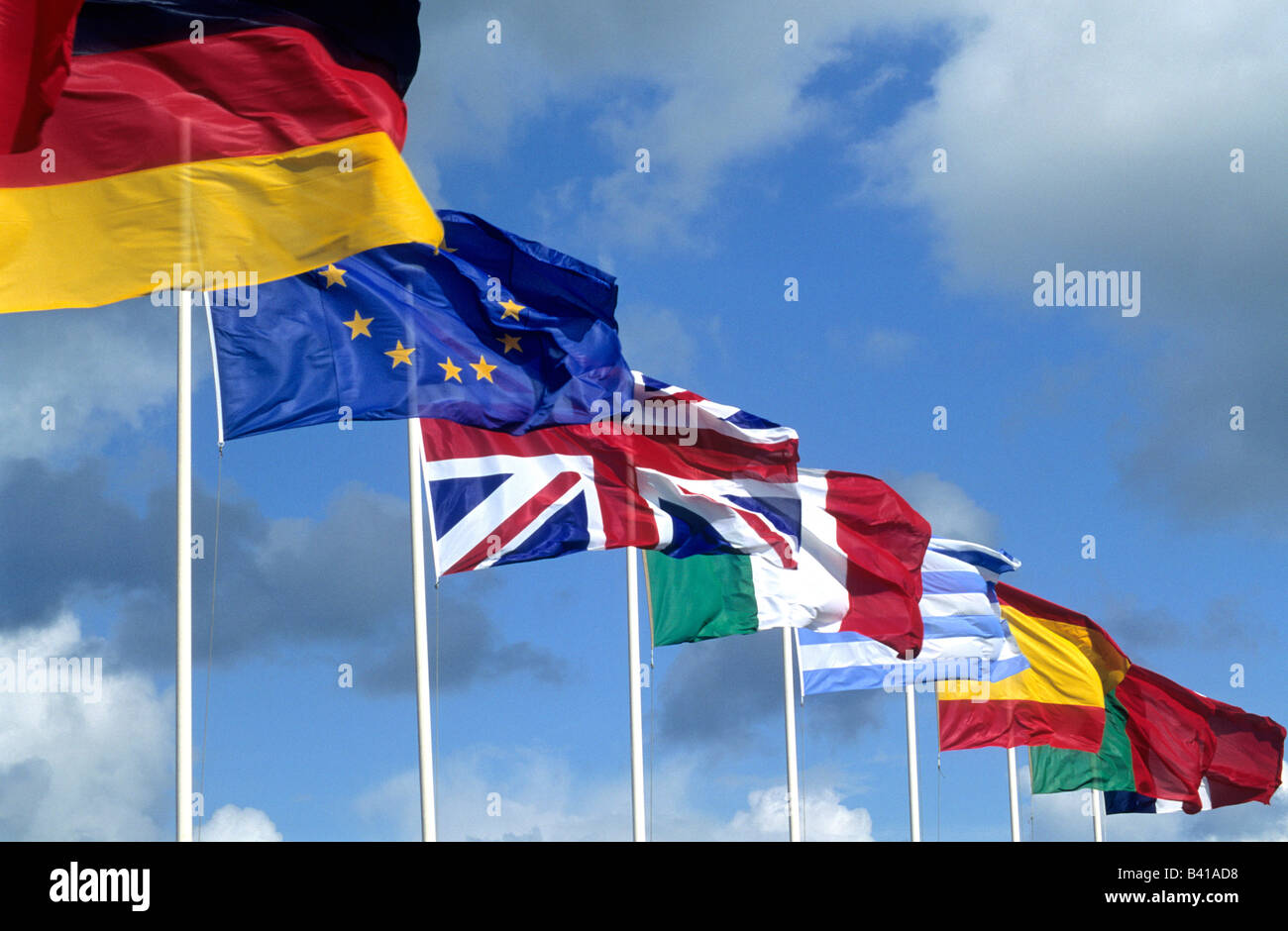 European country flags - Stock Image