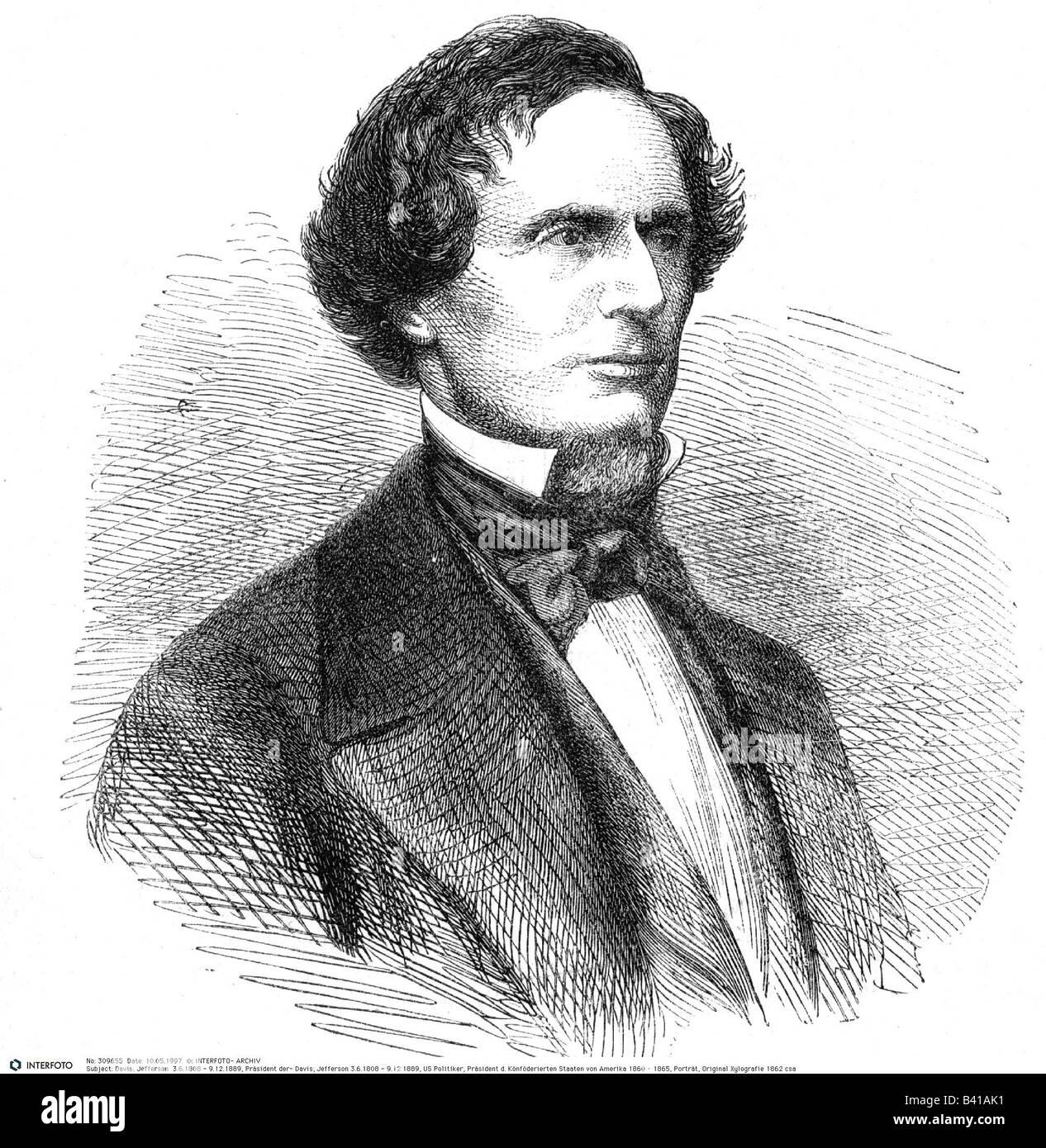 "half-length portrait 8/"" x 10/"" Photo Jefferson Davis facing right"