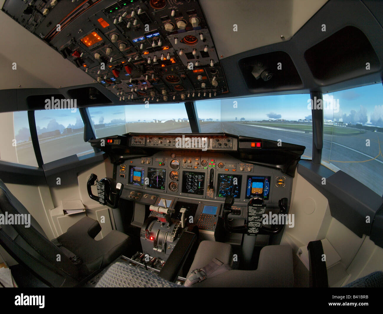 Flight simulator Boeing 737 cockpit pilots training equipment Seppe